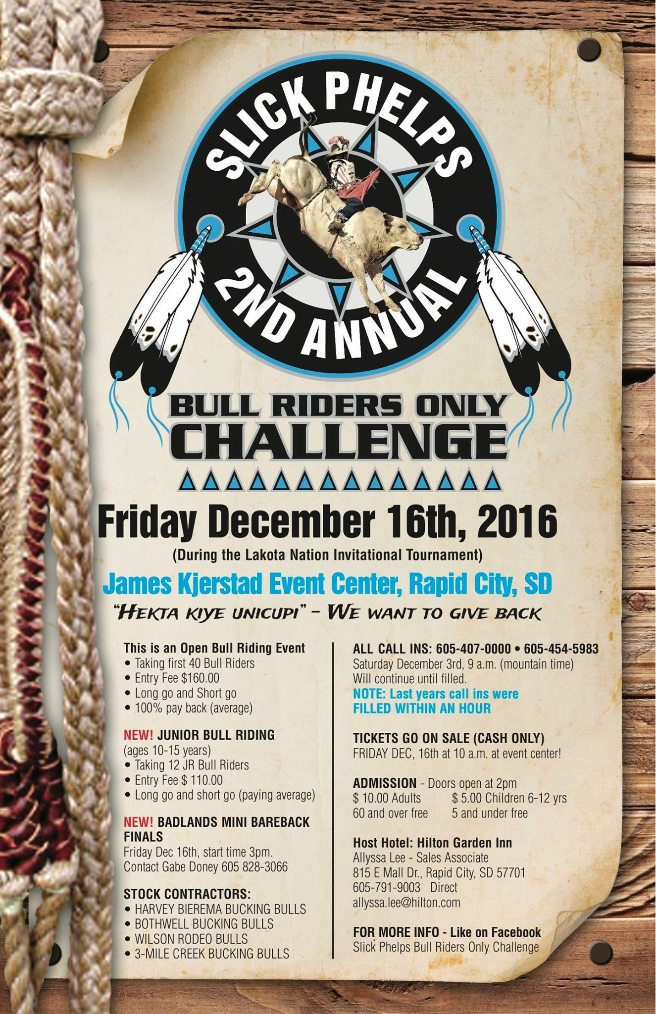 2nd Annual Slick Phelps Bull Riders Only Challenge!